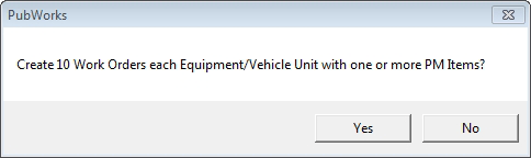 fleet work order dialog box