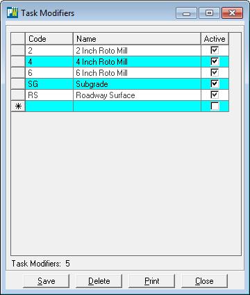 task modifier screen