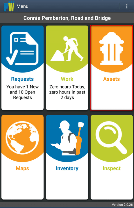 Click on the Assets Tile