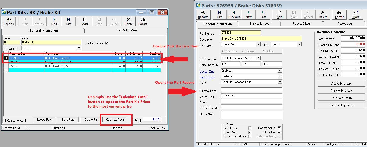 Fleet Parts Kit