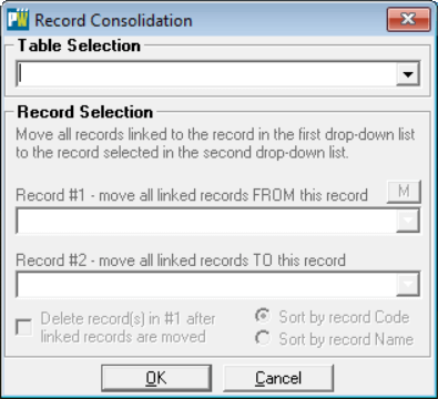 You will be presented with the Record Consolidation form